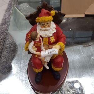FSU Holiday Christmas Santa girl cheerleader